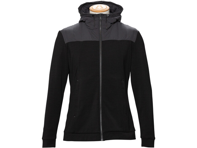 Alchemy Equipment Merino Tecnowool Hybrid Stretch Hoody Herren black
